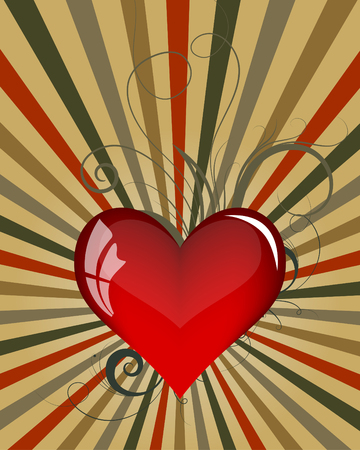 Abstract Valentine's day background. Vector illustration.