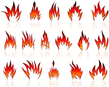 Set of fire icons for design use