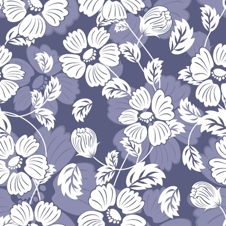 Seamless  floral background. For easy making seamless pattern just drag all group into swatc