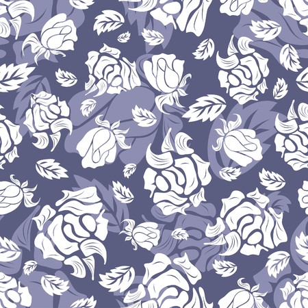 Seamless  floral background. For easy making seamless pattern just drag all group into swatches bar, and use it for filling any contours.
