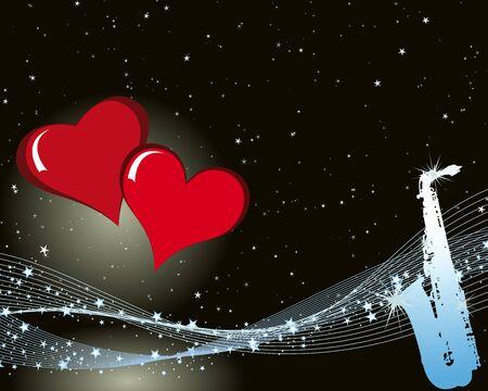 Abstract Valentine days background frame  illustration.