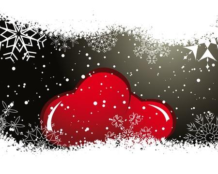Abstract Valentine days background frame.   illustration.