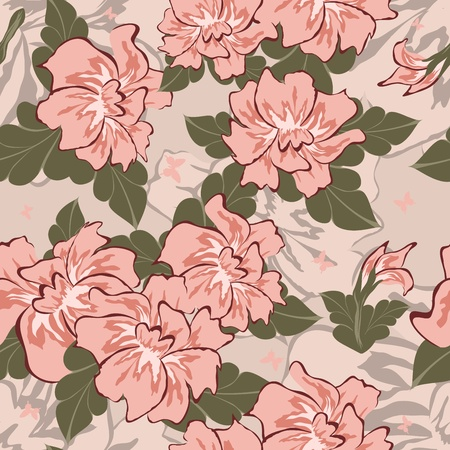 Seamless vector floral pattern. For easy making seamless pattern just drag all group into sw