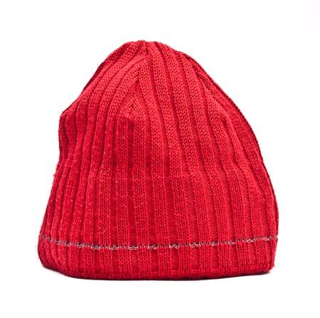 Foto de Knitted wool hat isolated on white background - Imagen libre de derechos