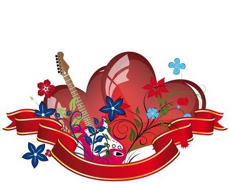 Abstract Valentine days background frame. Vector illustration.