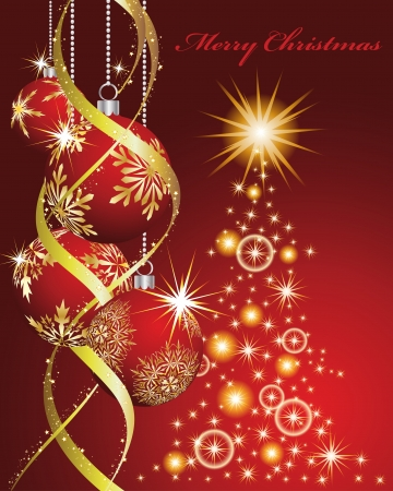 Christmas and New Year background. illustration. transparency.