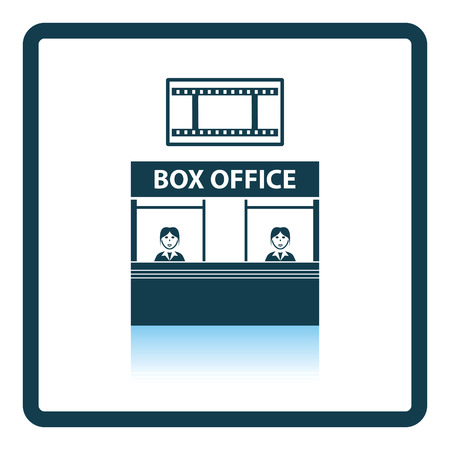 Box office icon. Shadow reflection design. Vector illustration.