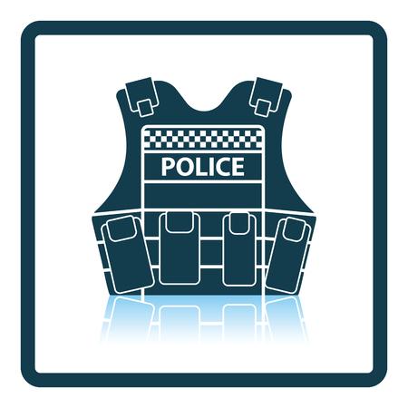 Police vest icon. Shadow reflection design. Vector illustration.