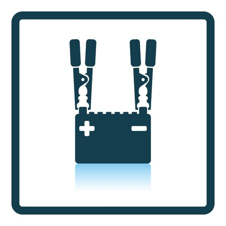 Car battery charge icon. Shadow reflection design. Vector illustration.