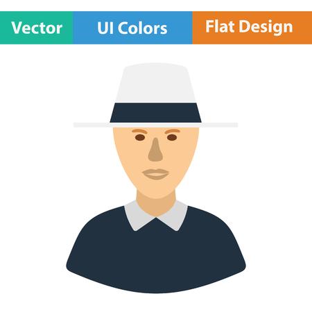 Cricket umpire icon. Flat design. Vector illustration.