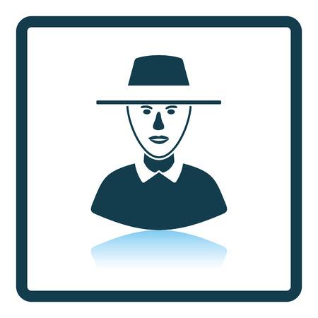 Cricket umpire icon. Shadow reflection design. Vector illustration.