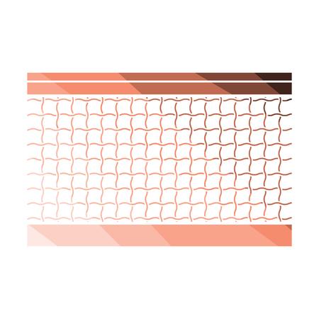 Ilustración de Tennis net icon. Flat color design. Vector illustration. - Imagen libre de derechos