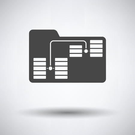 Illustration pour Folder Network Icon on gray background, round shadow. Vector illustration. - image libre de droit