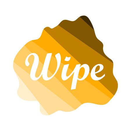 Wipe Cloth Icon. Flat Color Ladder Design. Vector Illustration.