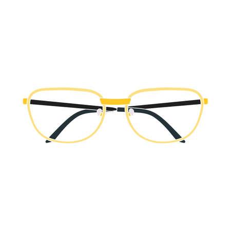 Illustration pour Glasses Icon. Flat Color Design. Vector Illustration. - image libre de droit