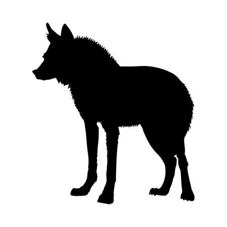 Illustration pour Maned Wolf silhouette. Smooth and clean lines. High detailed Maned Wolf silhouette. Vector Illustration. - image libre de droit