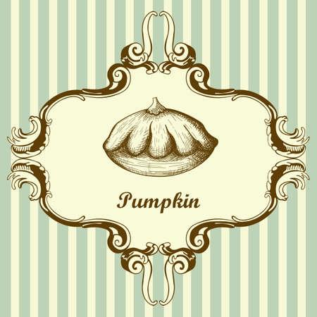 Ilustración de Bush Pumpkin Icon. Hand Drawn Sketch Design. Vector Illustration. - Imagen libre de derechos