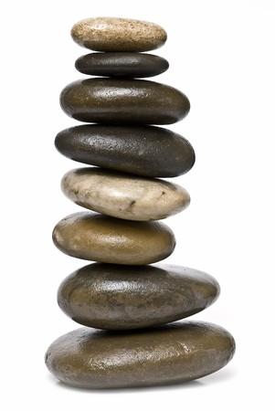 Healing stones in balance.