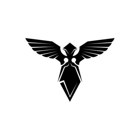 Ilustración de Black wing logo symbol for a professional designer - Imagen libre de derechos