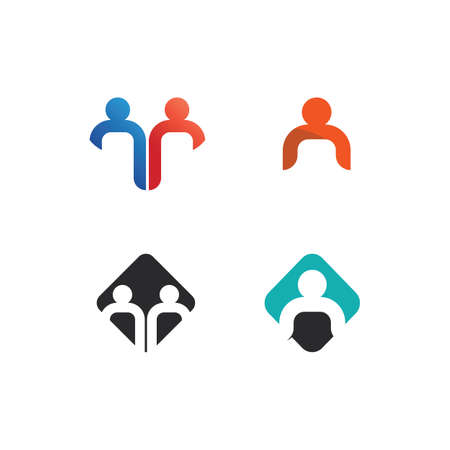 Illustration for People logo, Team, Succes people work, Group and Community, Group Company and Business logo vector and design Care, Family icon Succes logo - Royalty Free Image