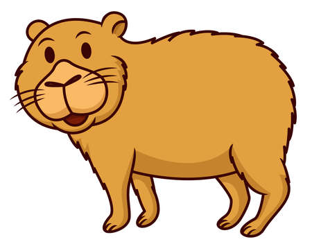 Illustration pour Capybara cartoon - image libre de droit