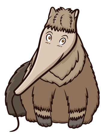 Illustration pour Giant Anteater Cartoon - image libre de droit