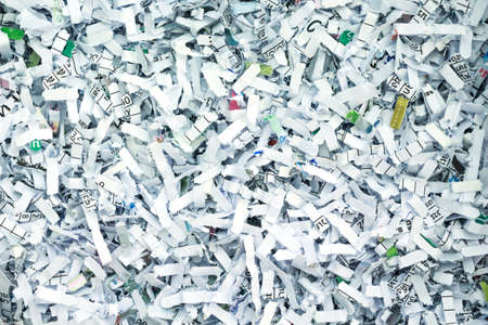 shredded paper security secret recycle background