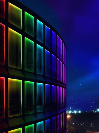 Photo pour facade building night light using led - image libre de droit