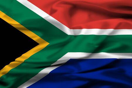 Photo pour South Africa flag - image libre de droit