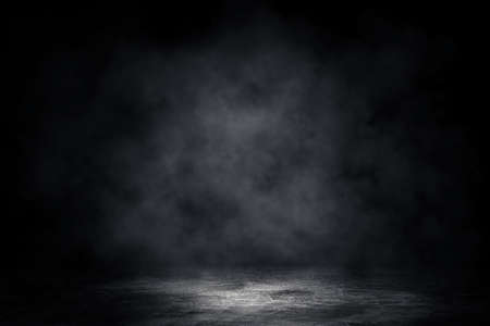 Photo pour Empty space of Concrete floor grunge texture background with fog or mist and lighting effect. - image libre de droit