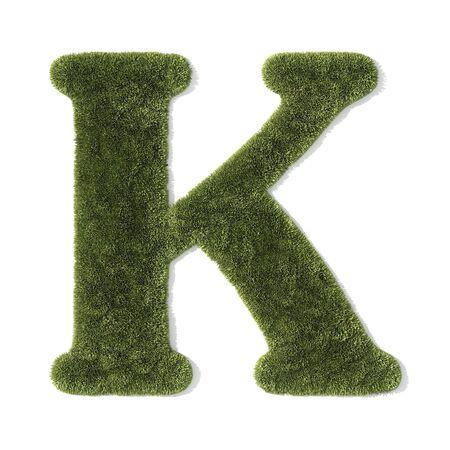 grass font - letter k