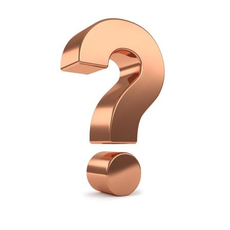 copper 3d question mark