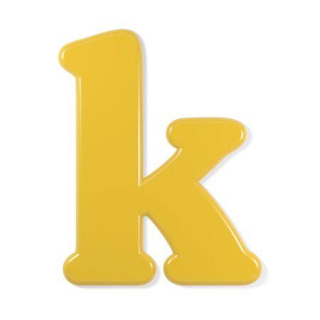 yellow font - letter k
