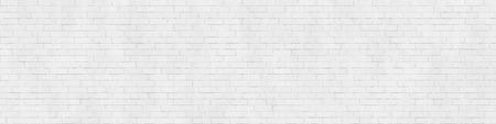 Background texture of white brick wall, stretcher bond