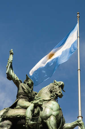 Monument of Manuel Belgrano, the creator of the argentinian flag.