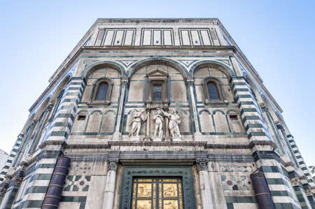 The Battistero di San Giovanni (Baptistry of Saint John) located in Florence, Italy