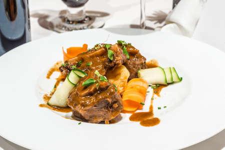 Foto de Typical colorful dish of the rich Andalusian and Spanish Mediterranean gastronomy. - Imagen libre de derechos