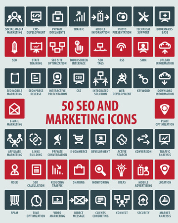 vector SEO and marketing icons