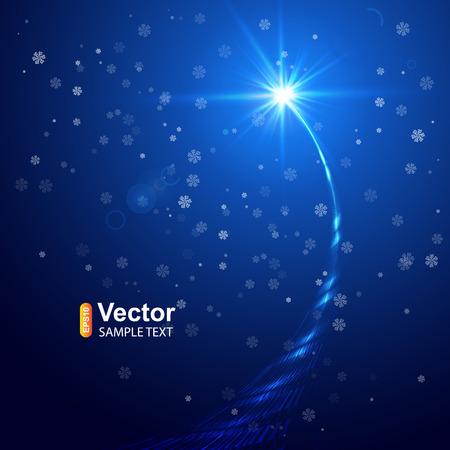 Illustration pour Christmas star and vector illustration - image libre de droit