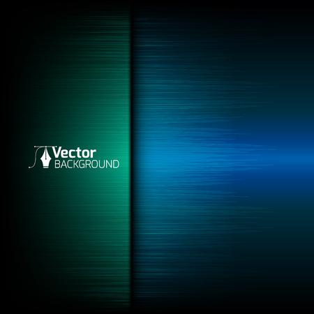 Illustration pour Tech blue background with green lines and vector illustration - image libre de droit