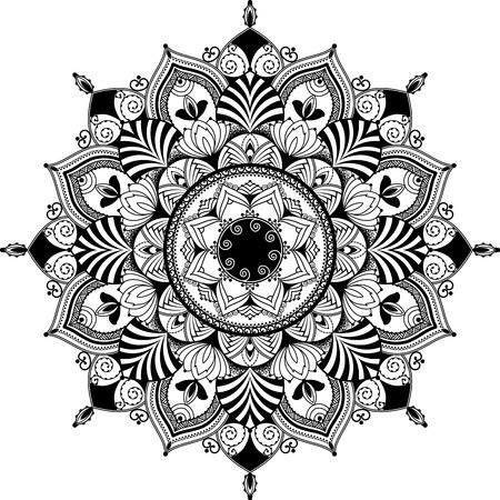 Illustration for mandala inspired illustration - Royalty Free Image