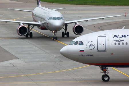 Sheremetyevo, Moscow Region, Russia - May 16, 2011: Aeroflot Airbus A330-343X VQ-BEK at Sheremetyevo international airport.