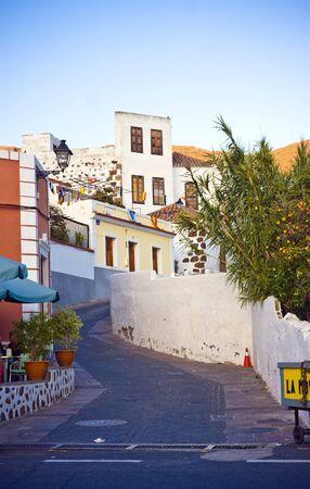 Colorful street in Santa Lucia, small village in Gran Canaria island, Spain