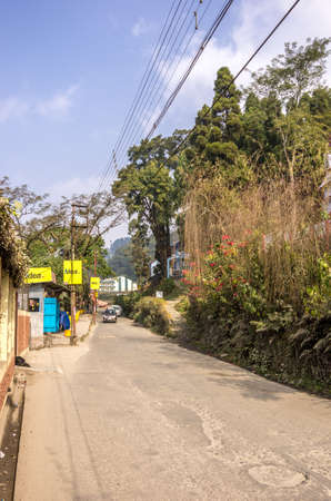 Kurseong, Darjeeling province - January 8th, 2014   A street in the hill station of Kurseong in Darjeeling province of West Bengal in India