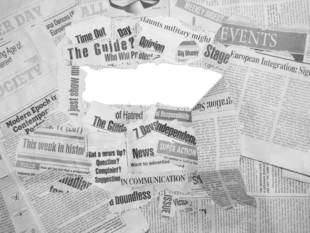 Collage made of newspapers and headlines