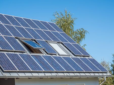 Photo for Solar Panel House - Royalty Free Image