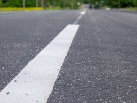 Photo for New asphalt Street texture with white line - Royalty Free Image