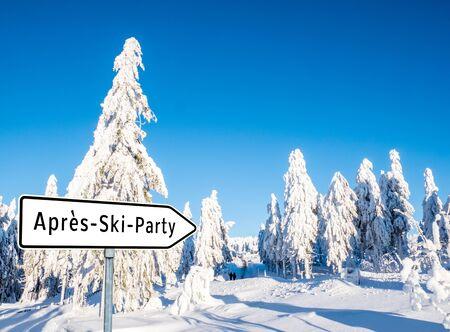 Photo pour Apres Ski Party - image libre de droit