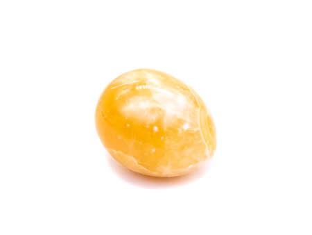 Photo for Egyptian Alabaster Gemstone Isolated on White Background - Royalty Free Image