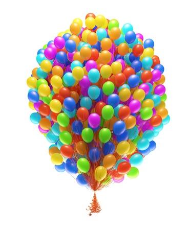 Foto für Big bunch of party balloons  Isolated on white background   - Lizenzfreies Bild